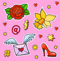 Pop art style fashion stickers