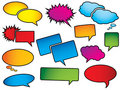 Pop art style speech bubbles Stock Images