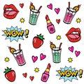 Pop art style stickers