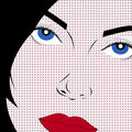 Pop art style woman Stock Photography