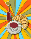 Pop art tea time Royalty Free Stock Photography
