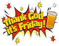 Pop Art Thank God its Friday Pint Day Sign