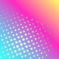Pop art vector. Background of a color rainbow and white dots