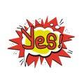 Pop art Yes logo