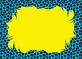 Pop Color Cheetah Fur Border Stock Photography