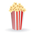 Pop corn abstract with shadow effect on white background Stock Photo