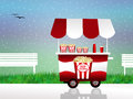 Pop corn cart illustration of Royalty Free Stock Images