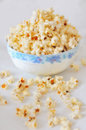 Pop corn popcorn in a ceramic bowl Stock Image