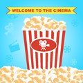 Pop corn in red box poster