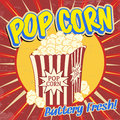 Pop corn vintage poster grunge vector illustration Stock Photos