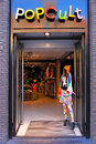 Pop cult store in amsterdam netherlands the may fashion on the damrak main street Stock Image