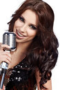 Pop female singer Royalty Free Stock Image