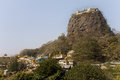 Popa taungkalat monastery atop an outcrop of mount popa volcano myanmar Royalty Free Stock Image