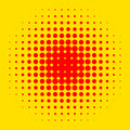 Popart, halftone pattern, background. Yellow and red, duotone ba