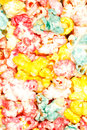 Popcorn background close up of colored vertical view Royalty Free Stock Photography