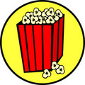 Popcorn bag vector illustration Royalty Free Stock Photography