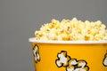 Popcorn bucket overflowing Royalty Free Stock Photo