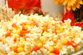 Popcorn Candy Corn Mix Royalty Free Stock Images
