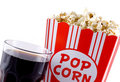Popcorn and cola. Royalty Free Stock Image
