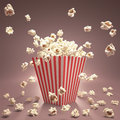 Popcorn Flying Royalty Free Stock Photography