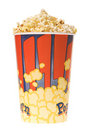 Popcorn glass Royalty Free Stock Photo