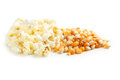 Popcorn and grain Royalty Free Stock Photo