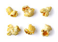 Popcorn isolated on white background Royalty Free Stock Photography