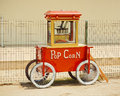 Popcorn machine made in vintage style, with sign Pop Corn Royalty Free Stock Photo