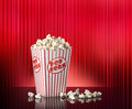 Popcorn Red Movie Theater Background Royalty Free Stock Photo