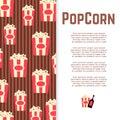 Popcorn and sauce banner design