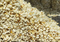 Popcorn stock closeup golden white colour light food Royalty Free Stock Photos