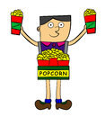 Popcorn vendor Royalty Free Stock Photography