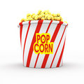 Popcorn on white Royalty Free Stock Photo