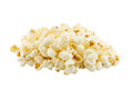 Popcorn on the white background Royalty Free Stock Photo