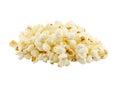 Popcorn on the white background Royalty Free Stock Photo