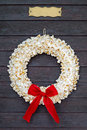Popcorn wreath with name plate Royalty Free Stock Photo