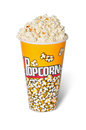 Popcorns glass full with of corn Royalty Free Stock Images