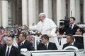 Pope Francis bless faithful Royalty Free Stock Photo