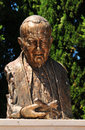 Pope john paul ii architectural detail of the bust of in cimiez nice france Stock Images