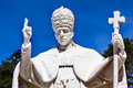 Pope Pius XII Statue Basilica of Lady of Rosary Fatima Portugal Royalty Free Stock Photo