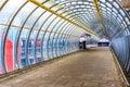 Poplar Pedestrian Footbridge Royalty Free Stock Photo