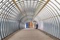 Poplar pedestrian tunnel footbridge Royalty Free Stock Photo