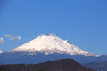 Snowy volcano Popocatepetl with blue sky in puebla, mexico VI Royalty Free Stock Photo