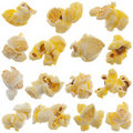 Popped kernels of pop corn snack Royalty Free Stock Photo