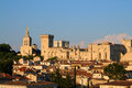 Poppes palace view on avignon historic center and of the popes provence unesco world heritage site Royalty Free Stock Image