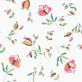 Poppies floral seamless pattern pastel colored Stock Photo