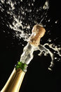 Popping Champagne Cork Stock Images