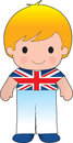 Poppy british boy a smiling well dressed young lad wears clothing representative of britain Stock Images