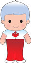 Poppy canadian boy a smiling well dressed young lad wears clothing representative of canada Royalty Free Stock Image