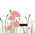 Poppy flower the symbolizes consolation and fertility Stock Photo